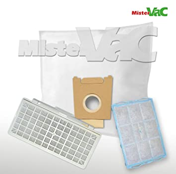 Vlies Staubsaugerbeutel Filter-Set geeignet Bosch VBBS600V02 FD8809