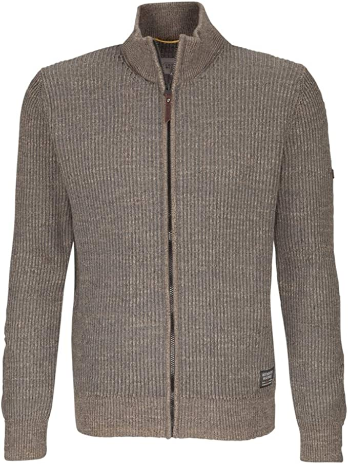 camel active Herren Stand up Jacket Moulin Strickjacke