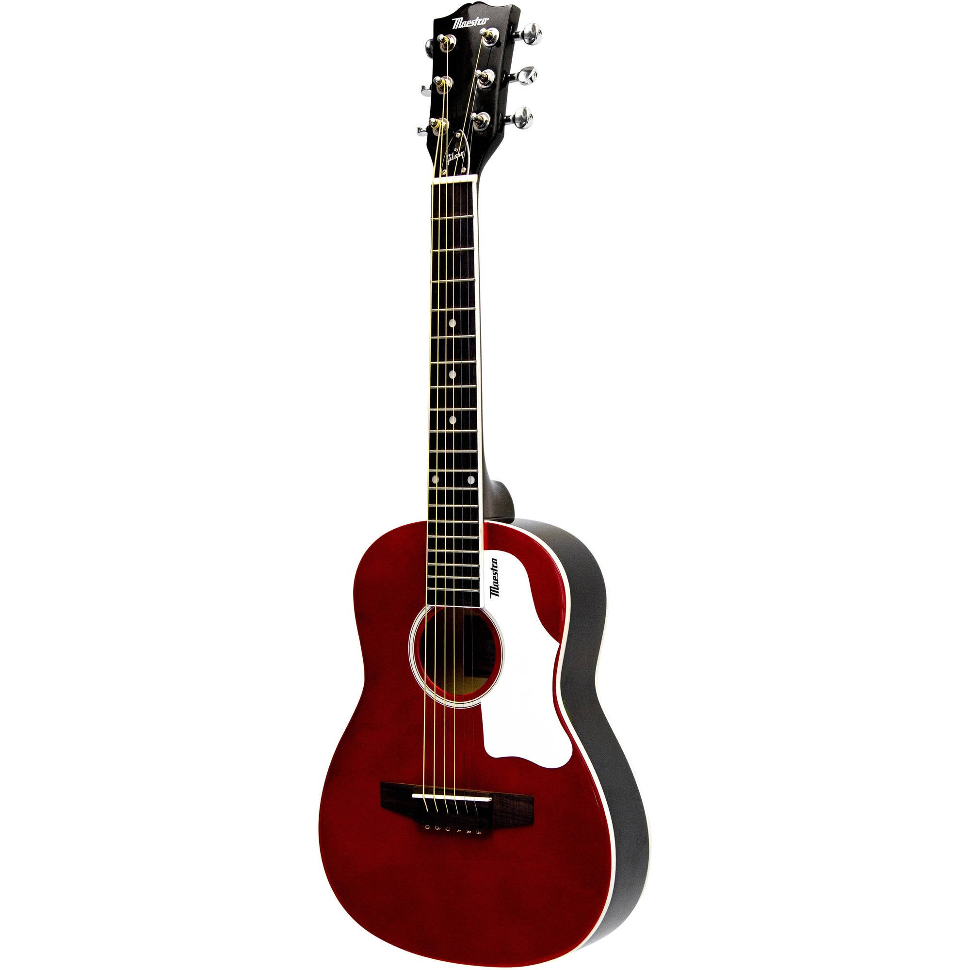 Maestro By Gibson 30'' Mini-Acoustic Guitar with Gig Bag, Red