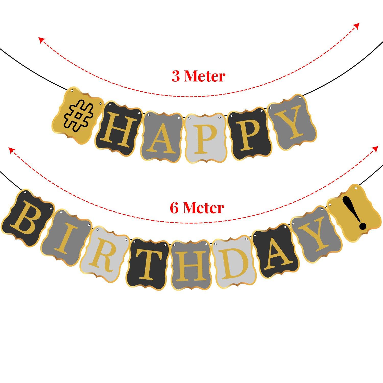 VINTAGE HAPPY BIRTHDAY BANNER DECORATIONS