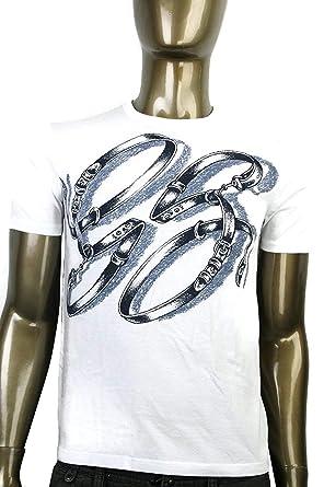 04bf1b5c1d27 Gucci Men's GG Logo Top Horsebit Graphic Belt T Shirt 337660 (3XL, White)