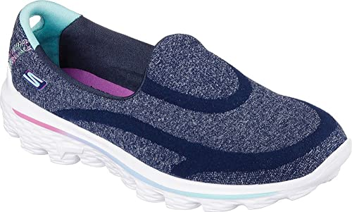 Skechers Girls Go Walk - Super Sock Loafer Navy Size 10.5 M US Little Kid