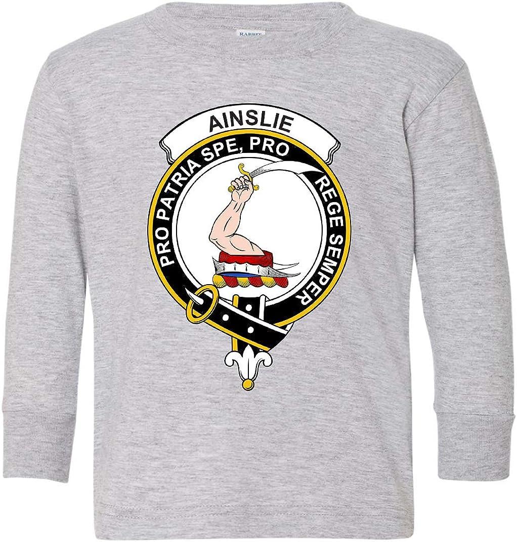Tenacitee Toddlers Scottish Clan Crest Badge Ainslie Long Sleeve T-Shirt