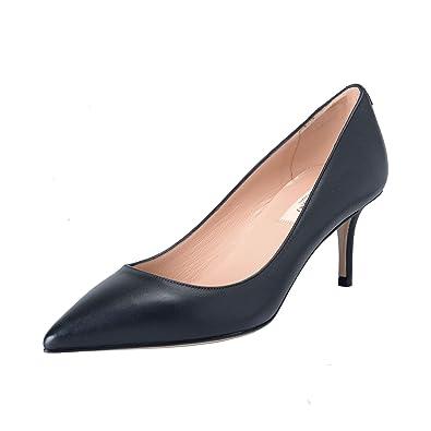 70e0c1dad347a Amazon.com  Valentino Garavani Women s Black Leather Classic Heeled Pumps  Shoes  Shoes
