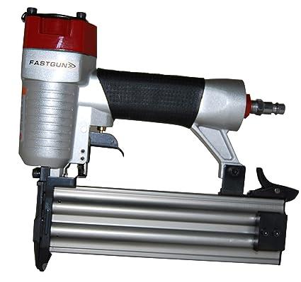 Clavadora Neumática Combi FASTGUN F50 para puntas con y sin cabeza Tipo 12 + 1.500 Puntas + 1 Pistón completo de repuesto + Maletín + Aceite para ...