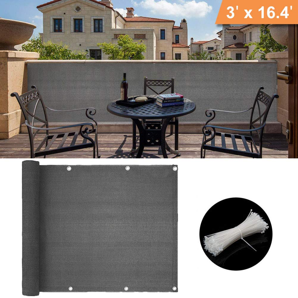 Caiyuangg® Balcony Privacy Netting Screen Privacy Shade Mesh Fence, Balcony Cover Weatherproof Outdoor Decor product image