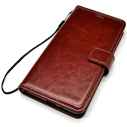 super cute 7935b 67182 Bracevor Flip Cover Leather Case : Inner TPU, Leather Wallet Stand for  Samsung Galaxy A8+ / A8 Plus - Executive Brown
