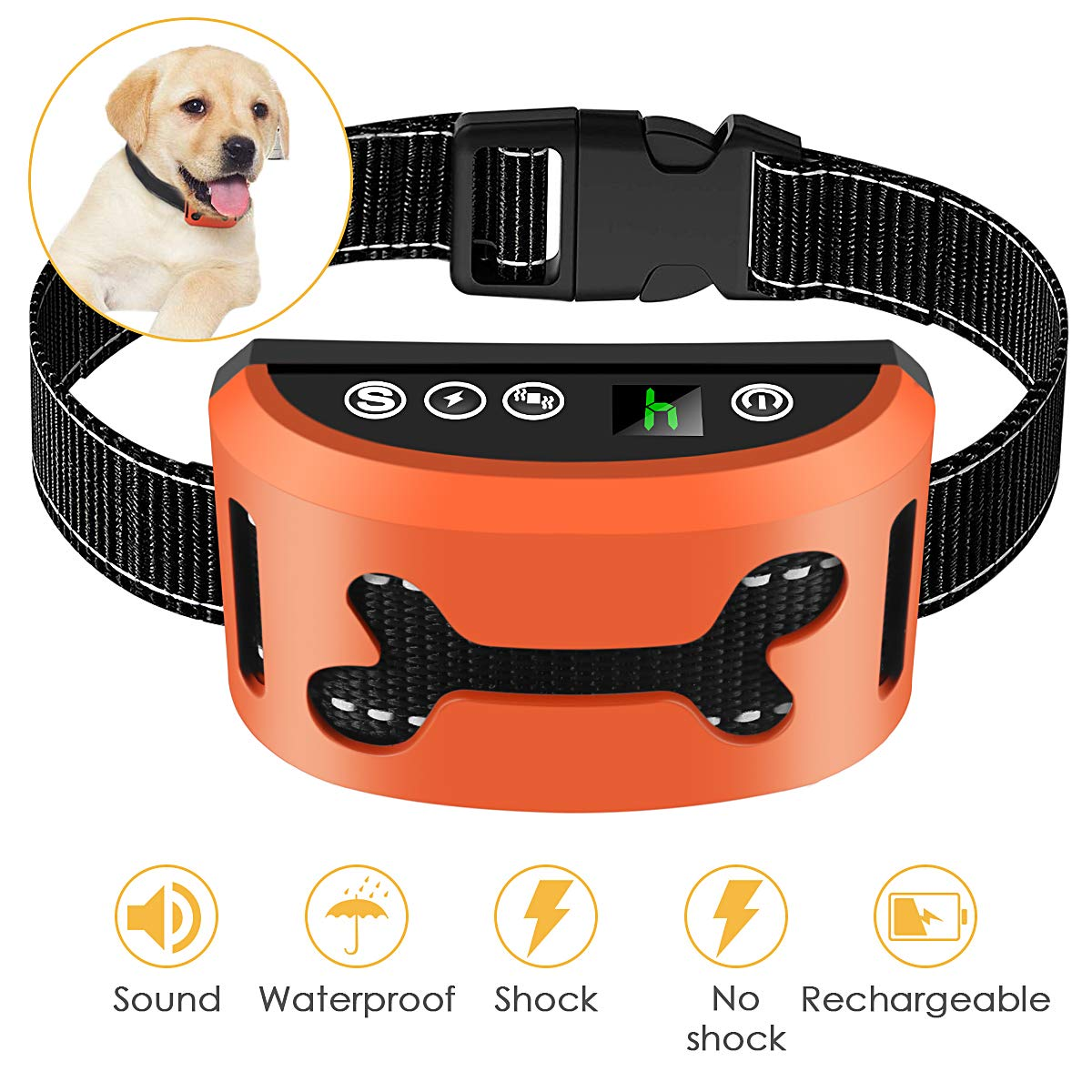 Premier Pet Bark Collars, 2019 Best Anti Bark Collar for Small Large Dogs, Smark Dog Training & Behavior Aids, Rechargeable Adjustable Dog Training Collars, Barking Detection, Waterproof by ELenest