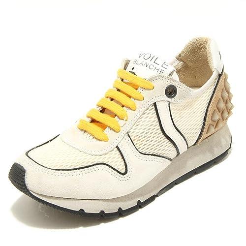 2569G sneaker donna colore bianco panna daino VOILE BLANCHE JENNA POWER scarpa s [36] oWmLkdM