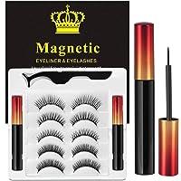 Magnetic Eyelashes, 3D Upgraded Reusable Magnetic Lashes, Waterproof Eyeliner and Volume Lashes, Magnetic Eyelashes and…