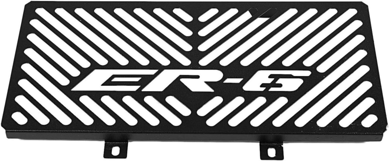 Black WOVELOT Motorcycle Stainless Steel Radiator Grille Guard Protection Cover for Kawasaki Er6N Er-6N Er6F Er-6F 2009-2011