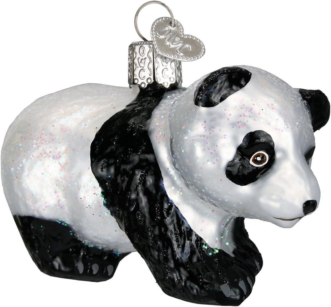 Old World Christmas Glass Blown Ornaments for Christmas Tree Panda Cub
