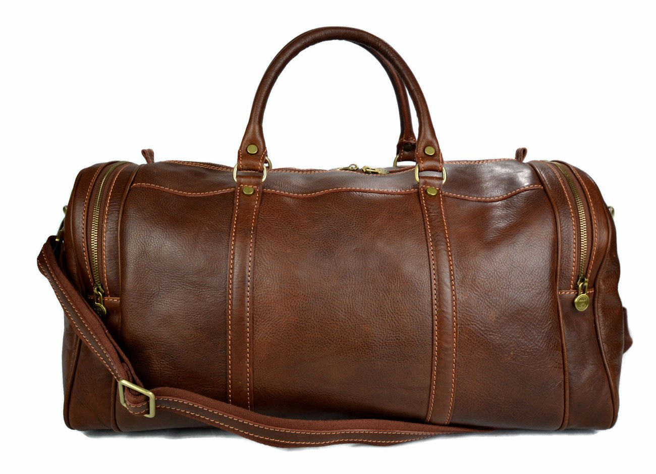 Mens leather duffle bag light brown shoulder bag travel bag luggage weekender carryon cabin bag gym leather bag women's leather duffel
