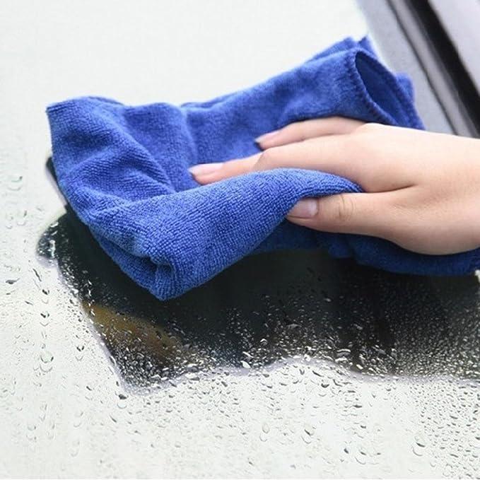 Toallas de microfibra absorbentes para limpiar ventanas de coches cocinas etc.