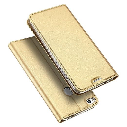 "6 opinioni per Custodia Huawei P8 Lite (2017) 5.2"" Oro , TUTUWEN Lusso Cover a di PU Ecopelle"
