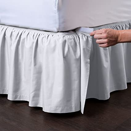 for whole family best los angeles Ashton Detachable Bedskirt (Queen Size, White, 21