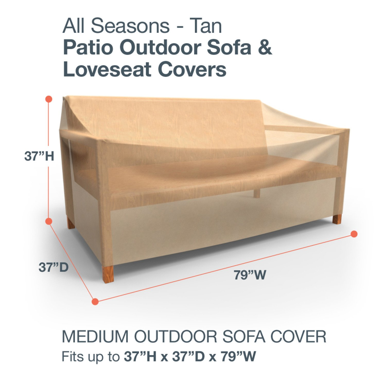 Amazon Budge All Seasons Outdoor Patio Sofa Cover Medium