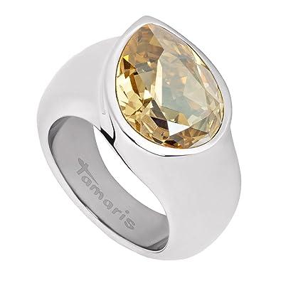 Tamaris Women's Ring Stainless Steel Zirconia Amy orange Size 60 (19.1)-A00210078 itQogFGK