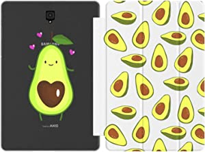 Mertak Case Compatible with Samsung Galaxy Tab S7 S6 Lite S5e S4 A7 10.4 A 10.5 10.1 2019 S3 9.7 S2 8.0 Avocado Heart Print Fruits Smart Cover Design Auto Wake Sleep Kawaii Half Pattern Food Cute Slim