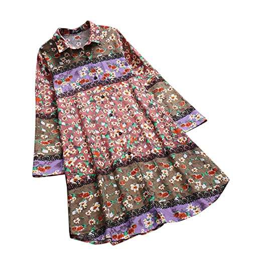 New Stylies Women Long Sleeves Vintage Floral Print Patchwork Blouse Lace Splicing Tops Plus Size Patchwork Tunic Top Women's Clothing