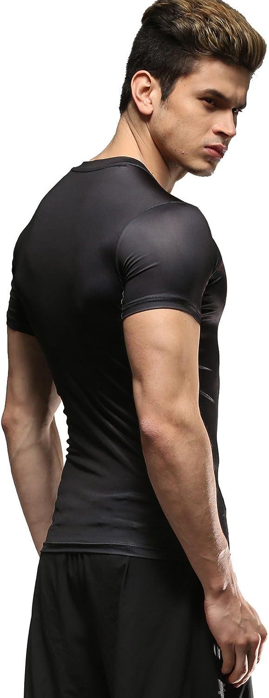 fitness jogging versione film compressione Batman maglietta da uomo per sport Cody Lundin