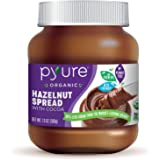 o	Organic Hazelnut Spread with Cocoa by Pyure | Keto Friendly, No Palm Oil, Vegan, Peanut Free| 90% Less Sugar Than the Market Leading Brand, 13 Oz