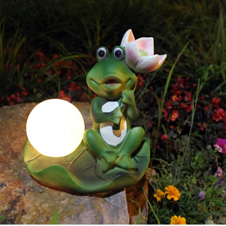 LOVEPET Garden Solar Light Garden Light Led Outdoor Light Induction Lamp Waterproof Frog 7 Color Gradient Landscape Light 22X22X22 cm