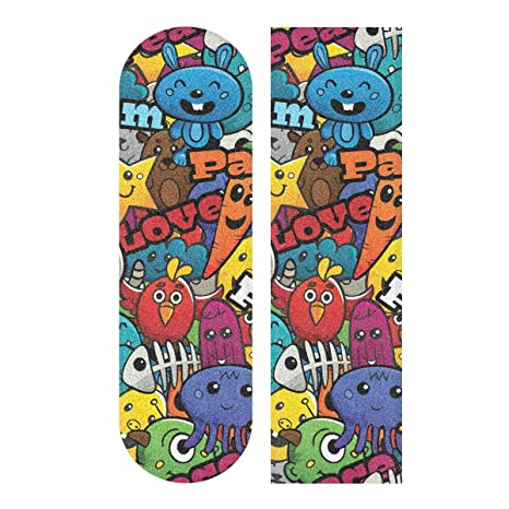 Papillon Art Grip de Skateboard Bande Grip Antid/érapante,Auto-adh/ésif Griptape de Longboard,sans Bulles,Peut /êTre Coup/é 84 * 23cm 1pcs