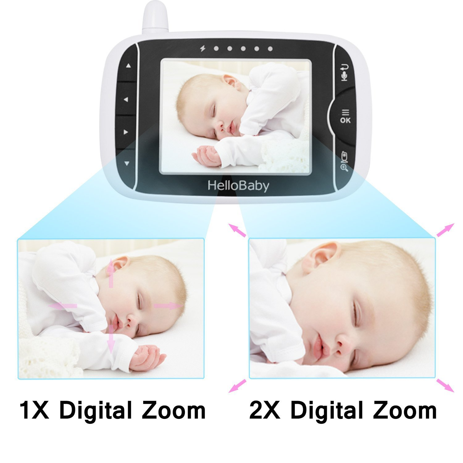 HelloBaby HB32 Baby Monitor Parent Unit