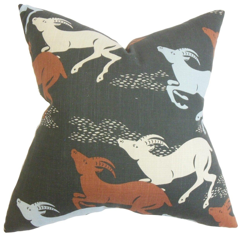 The枕コレクションNaenia動物印刷床枕レッド   B076HCH7YM