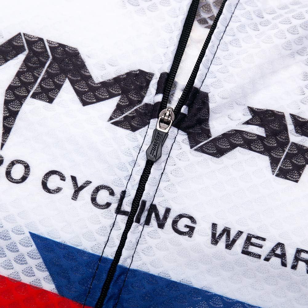 Q/&W Corto Manga Bicicleta Camisa y Acolchado Babero Adolescentes Verano Ciclismo Jersey Conjunto Aire Libre Respirable MTB Bicicleta Montando Ciclismo Traje
