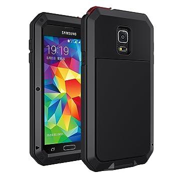 seacosmo Funda Compatible with Galaxy S5, [Rugged Armour] Carcasa con de Protector de Pantalla [Anti-Arañazos] Protección Completa del Cuerpo Heavy ...
