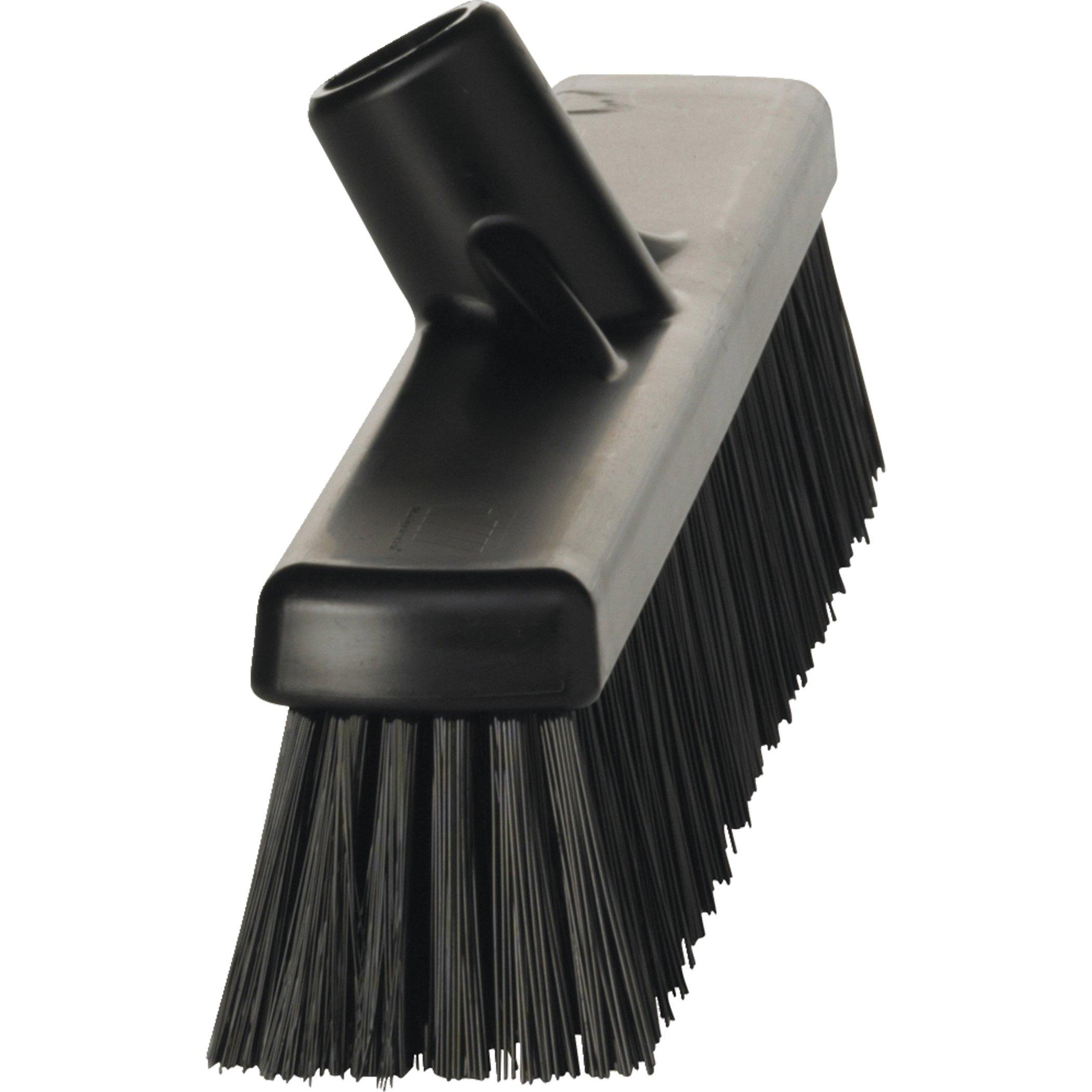 Vikan 31749 Coarse/Fine Sweep Floor Broom Head, Polypropylene Block, 16-1/2 Polyester Bristle, Black