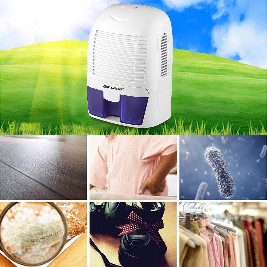 Bathroom dehumidifier uk - Amazon Com Excelvan 1 5l Mini Air Dehumidifier Portable Dryer Home Bathroom Kitchen Garage Damp Home Kitchen