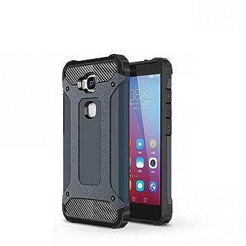 RINOJF Compatible Huawei Honor 5X/GR5 Funda,Heavy-Duty Anti-Caída protección contra Golpes Robusta Carcasa,TPU +PC de Doble Capa Anti-arañazos Caso ...