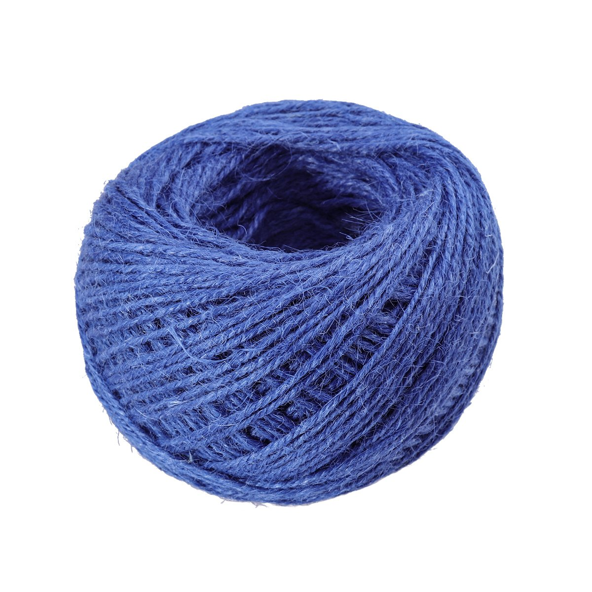 ULTNICE 3 Rolls Jute Twine String Rope String Hemp Cord Rope for Gift Packing Royal Blue