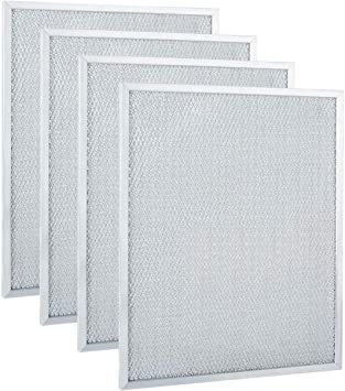 """Range Hood Ducted Filter 11-3//4/"""" X 14-1//4/"""" X 3//8/"""" Silver High Quality 2 Filters"""