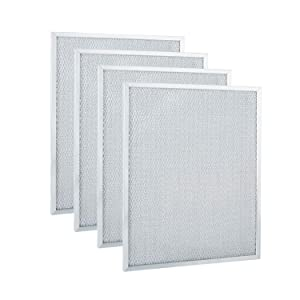 """BPS1FA30 Range Hood Filter 11-3/4"""" x 14-1/4"""" x 3/8"""" for Broan, Nutone Compatible with 30""""QS1, WS1 Aluminum Hood Grease Replacement Filter (4 Pack)"""