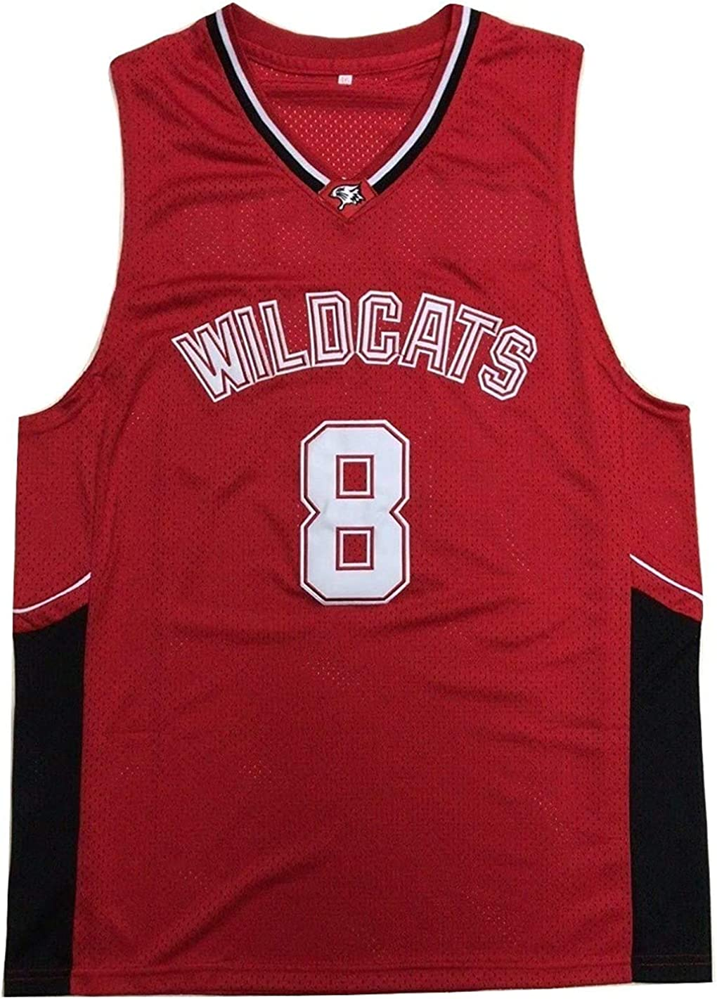 Chad Danforth 8 East High School Wildcats Red Basketball Jersey HSM3 Tee