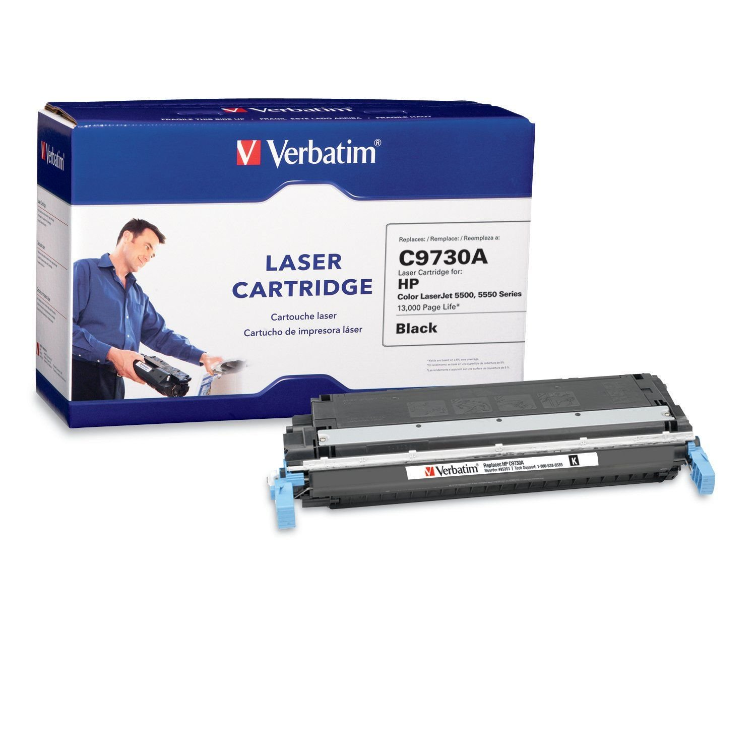 Verbatim Laser Toner Cartridge Replacement for HP C9730A - Compatible with LaserJet 5500 / 5550 Series - Black