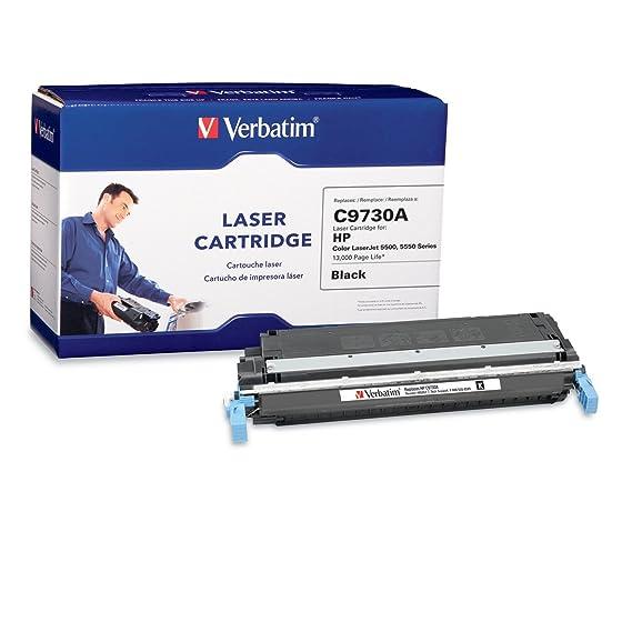 Verbatim Laser Toner Cartridge Replacement for HP C9730A - Compatible with LaserJet 5500/5550 Series - Cyan