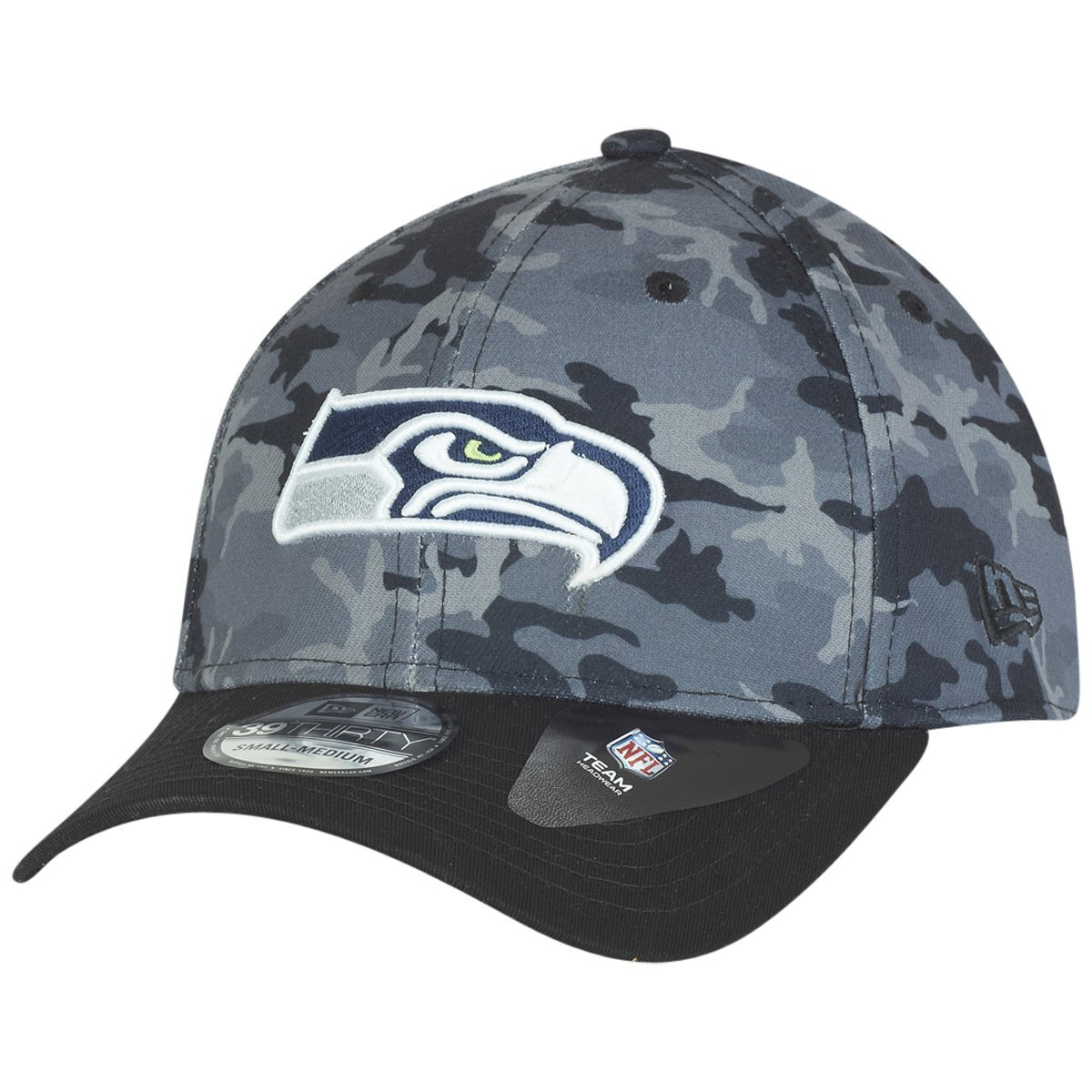 New Era Camo equipo estiramiento 39THIRTY curva CAP ~ Seattle ...