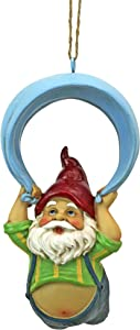 Design Toscano QL30697 Paavo and his Parachute Adrenaline Junkie Hanging Garden Gnome Statue, One Size, Full Color