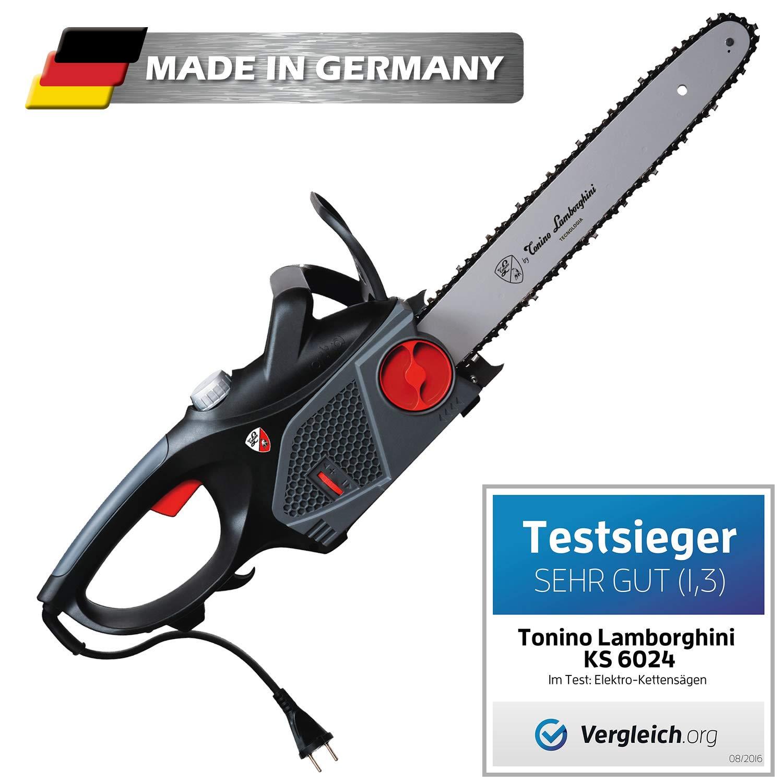 Tonino Lamborghini Elektro Kettensäge KS 6024 Schnittlänge 40cm 2.400 Watt Made in Germany