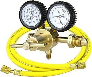 SÜA - Nitrogen Gas Regulator 0-600 PSIG - HVAC Purging - Pressure Charge - 1/4