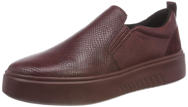 Geox D Nhenbus B, Zapatillas sin Cordones para Mujer 37 EU|(Dk Burgundy C7357)