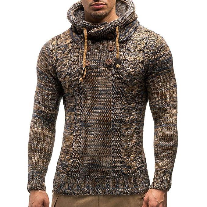 Suéter otoño Invierno de los Hombres Chaqueta de Punto Sudaderas con Capucha suéter Outwear Hoodie Casual Sweatshirt para Hombre Amlaiworld: Amazon.es: Ropa ...