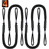 Bungee Boat Dock Lines Mooring Rope Boat Accessories Docking Ropes PWC Docklines for Boats Pontoon, Jet Ski, SeaDoo, WaveRunn