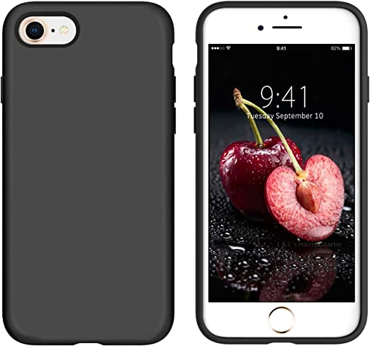 iPhone SE 2020 Case, iPhone 8 Case,iPhone 7 Case, DUEDUE Liquid Silicone Soft Gel Rubber Slim Cover with Microfiber Cloth Lining Cushion Shockproof ...