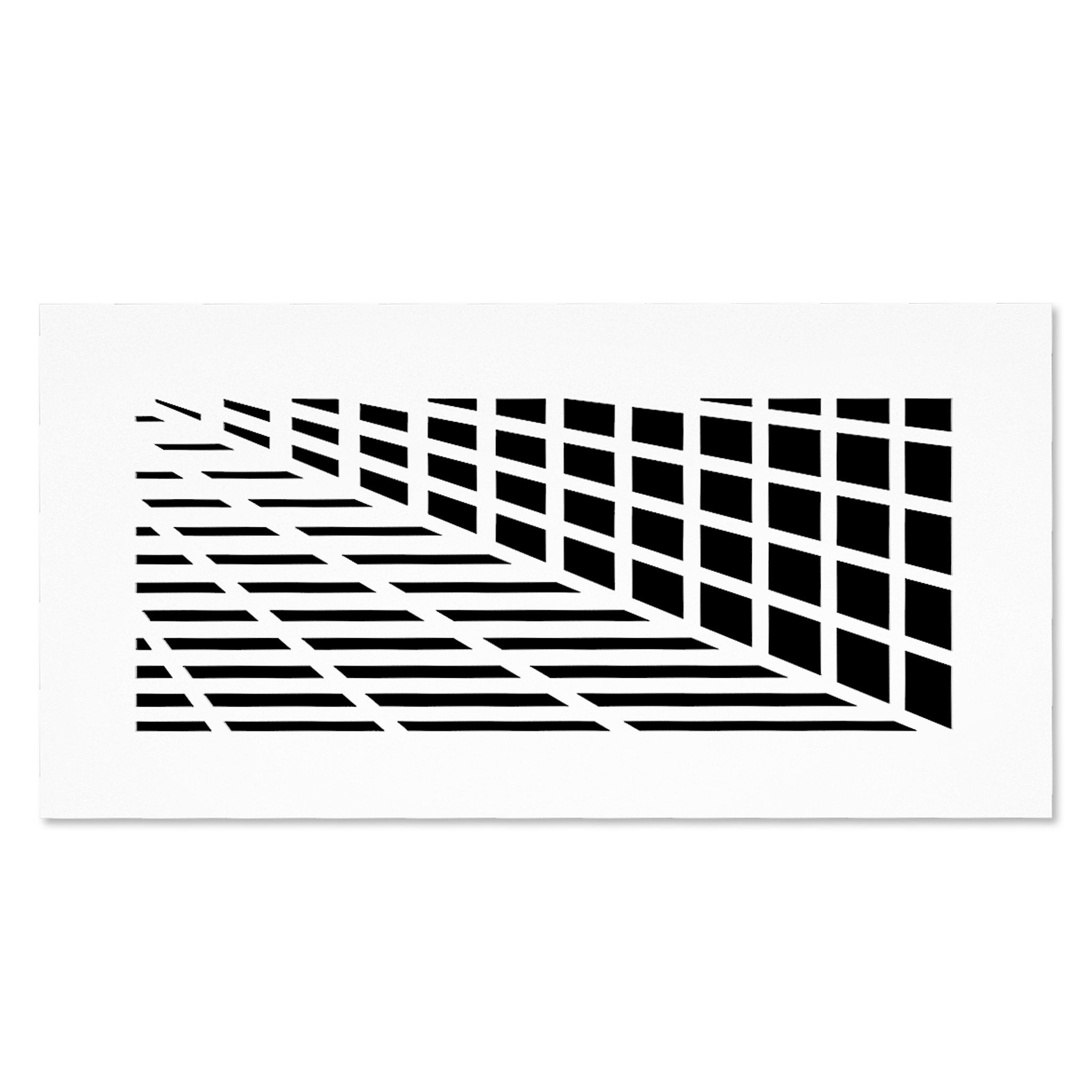 SABA Air Vent Covers Register - Acrylic Fiberglass Grille 8'' x 4'' Duct Opening (10'' x 6'' Overall) White Finish Decorative Cover for Walls & Ceilings (not for Floor use), Vivian